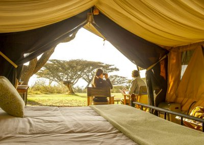 olduvai-camp-tent-morning-view